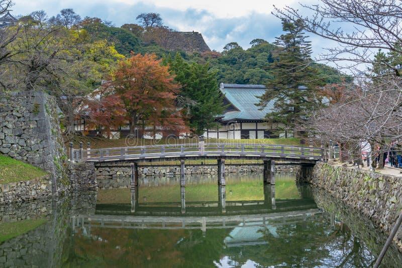 Ров замка Hikone стоковые фотографии rf