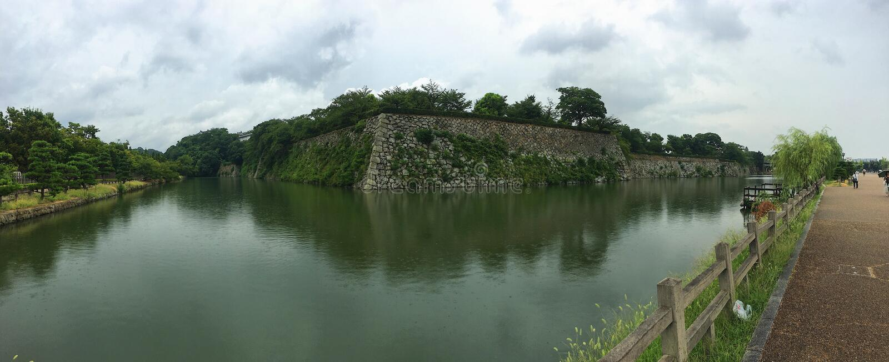Ров himeji- вокруг замка Himeji стоковые фото