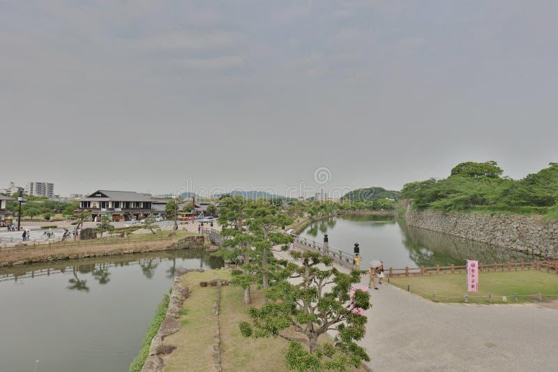 ров Uchibori внутренний на замке Himeji стоковое фото rf
