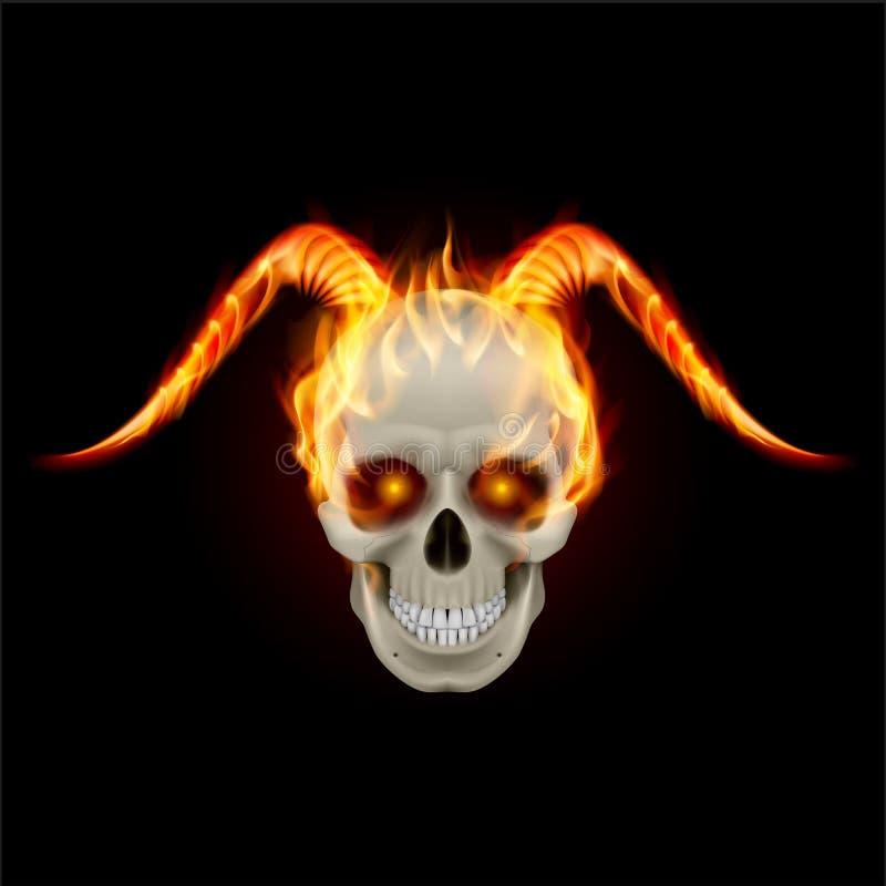 Роговой дьявол бесплатная иллюстрация