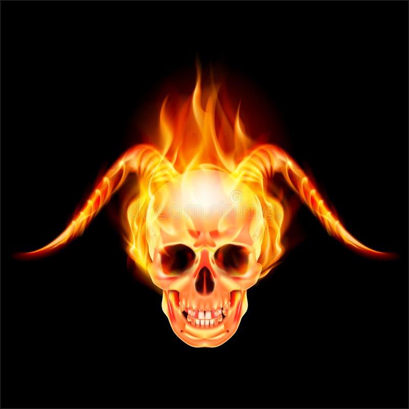 Роговой дьявол иллюстрация штока
