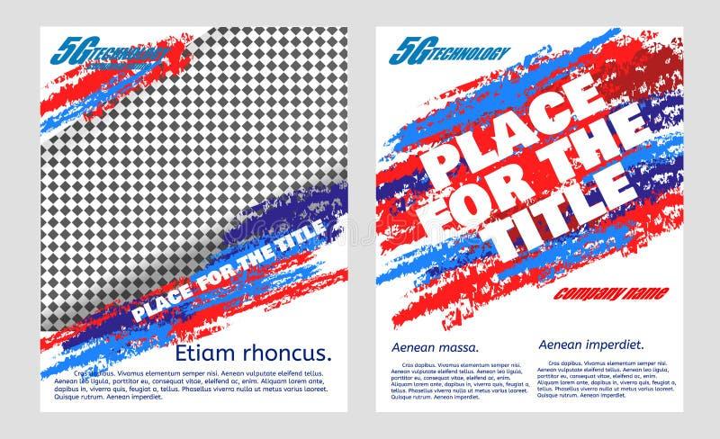 Рогульки брошюра абстрактного вектора современные, годовой отчет, шаблоны дизайна бесплатная иллюстрация