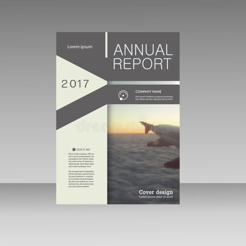 Рогулька брошюры дела треугольника вектора Представление дизайна конспекта шаблона годового отчета иллюстрация вектора