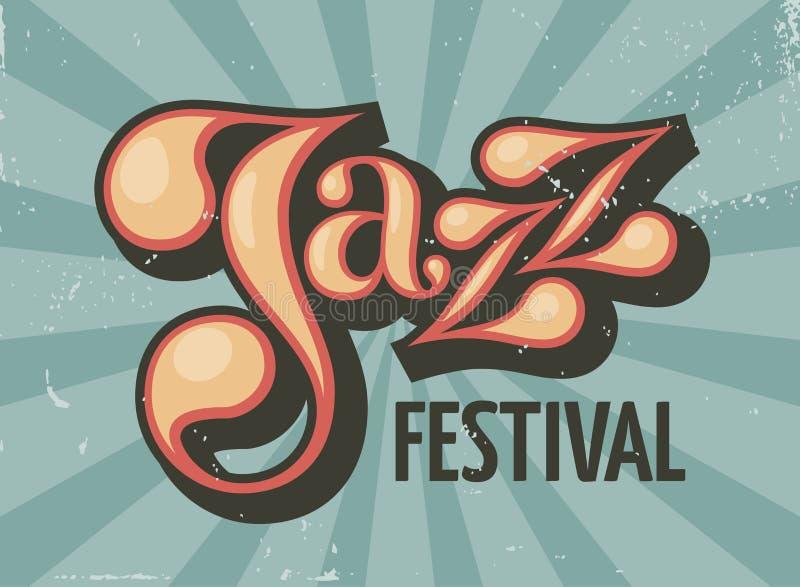 Рогулька джазового фестиваля иллюстрация вектора