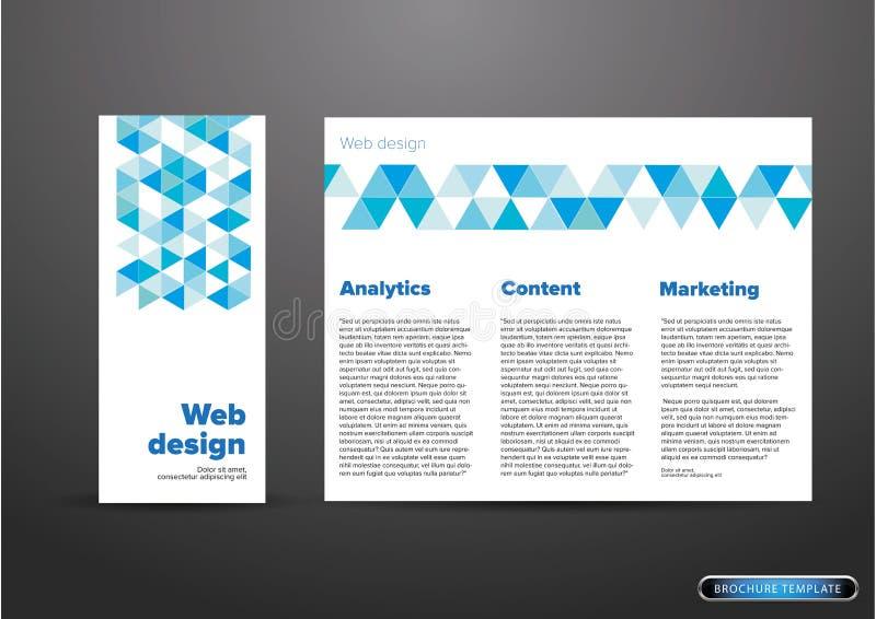 Рогулька или брошюра веб-дизайна иллюстрация штока