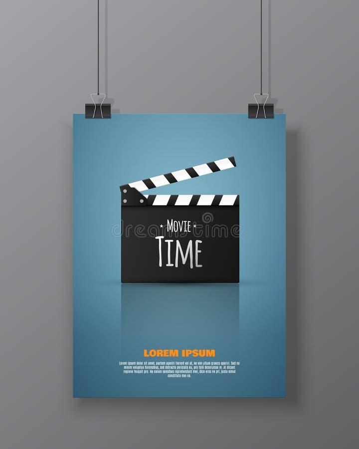 Рогулька или плакат фестиваля кино Иллюстрация вектора киноиндустрии бесплатная иллюстрация