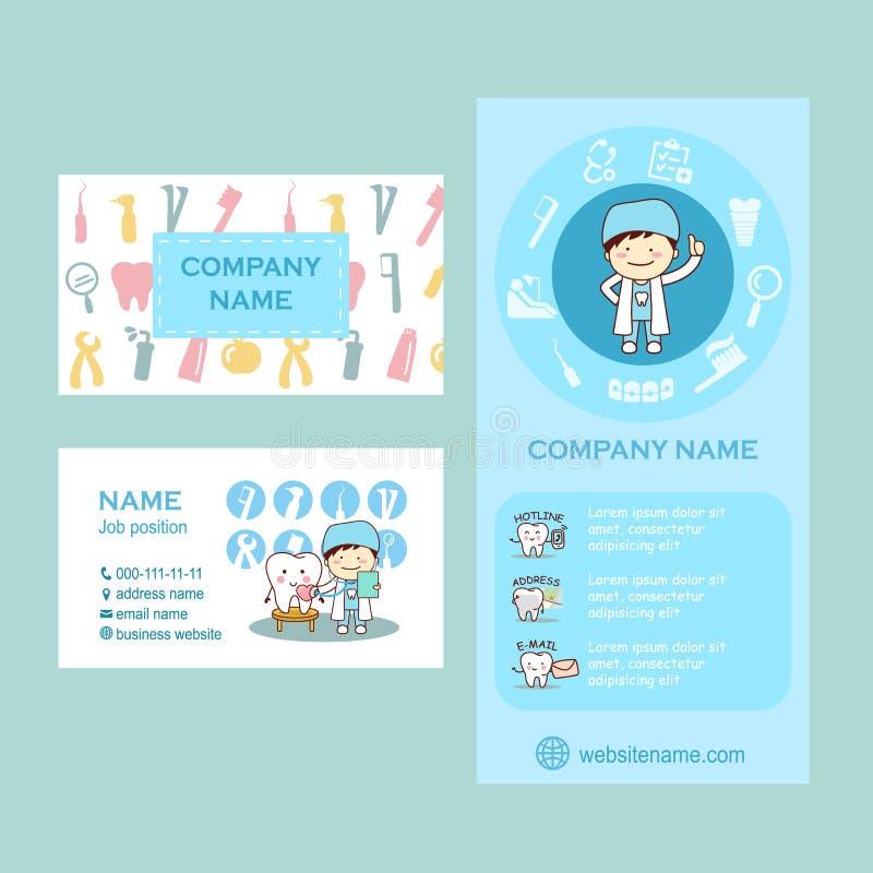 Рогулька и карточка для зубоврачебного бесплатная иллюстрация