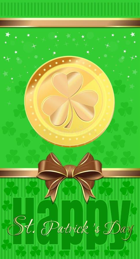 Рогулька праздника на день St Patricks иллюстрация штока