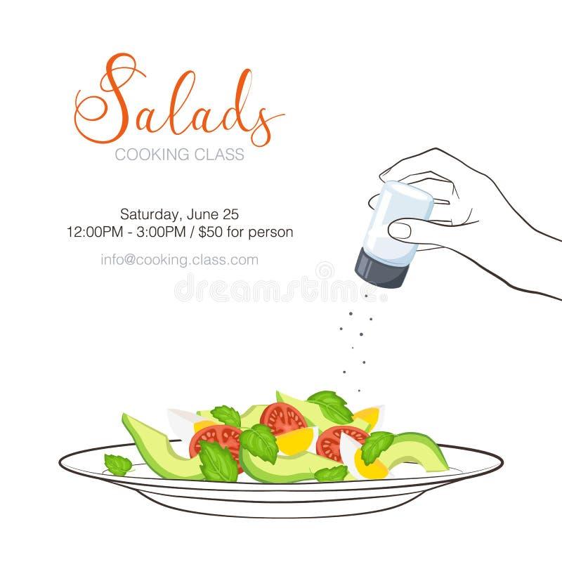 Рогулька урока кулинарии иллюстрация вектора