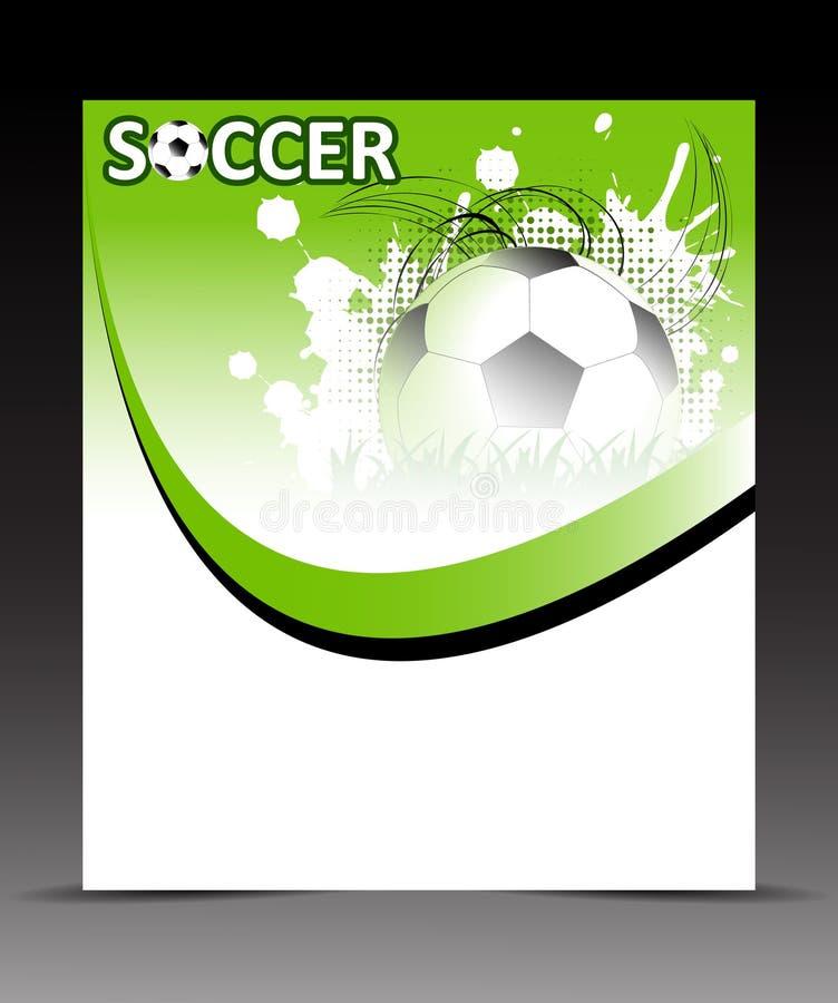 Рогулька шаблона с футбольным мячом на абстрактной предпосылке иллюстрация вектора