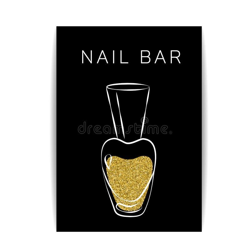 Рогулька яркого блеска золота маникюра сияющая бесплатная иллюстрация