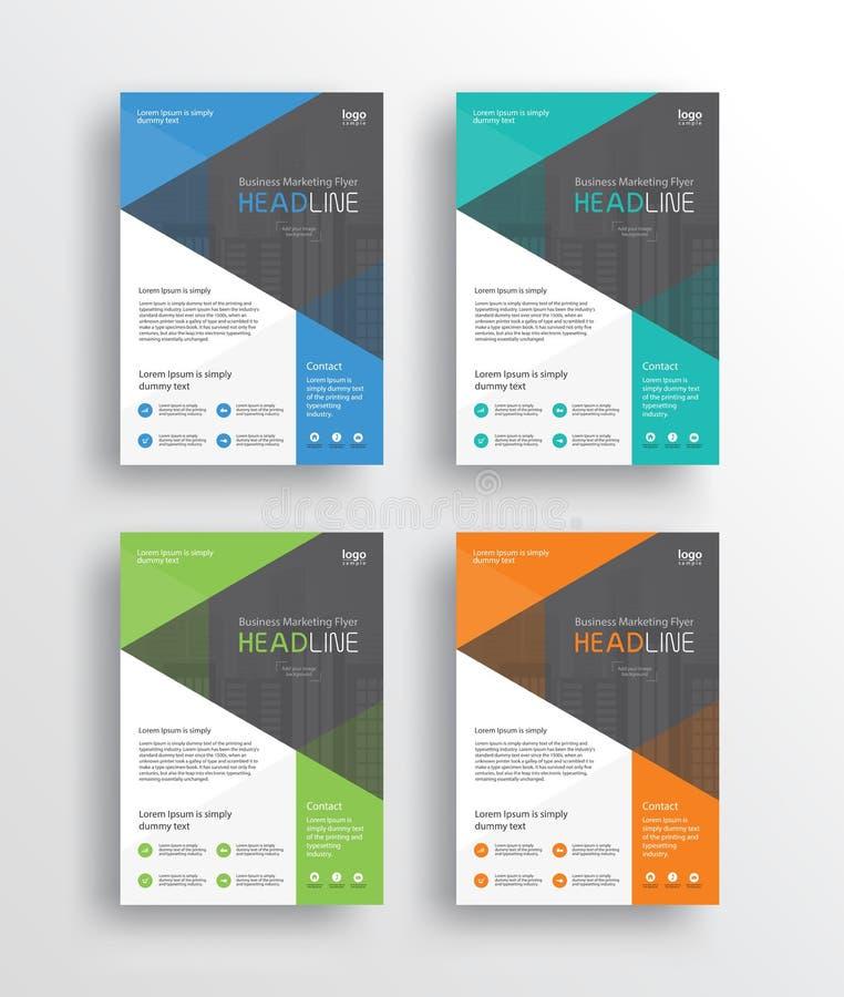 рогулька /brochure/poster/ маркетинга дела и отчет конструируют шаблон бесплатная иллюстрация