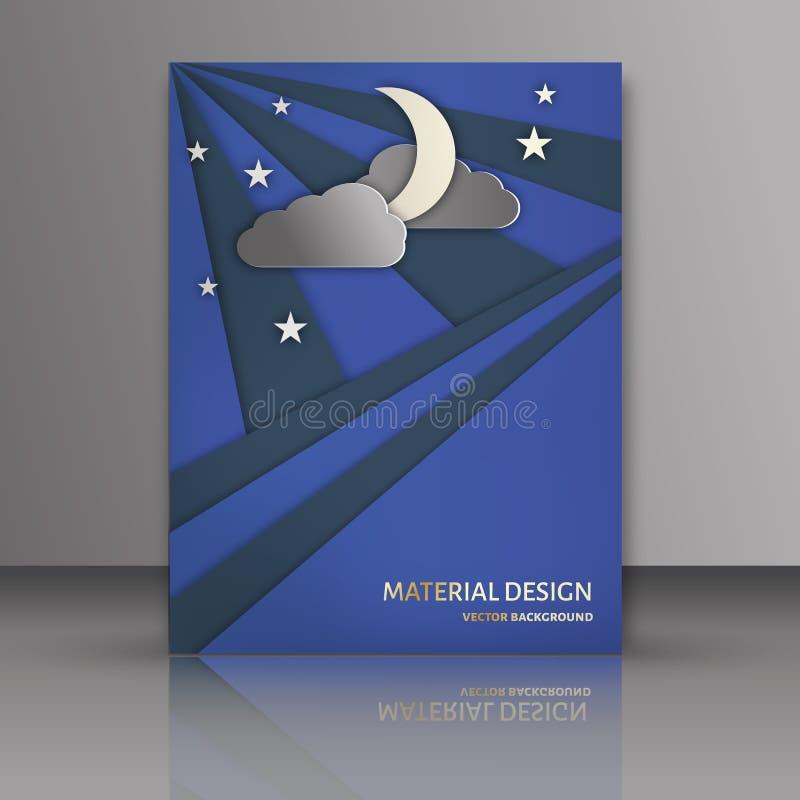 Рогульки брошюра абстрактного вектора современные, буклет, дизайн в размере иллюстрация вектора