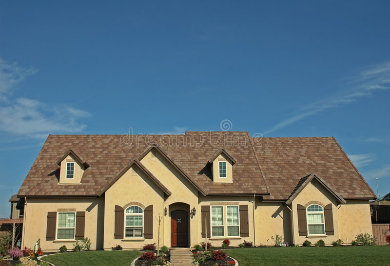 родной дом одиночный стоковое изображение rf