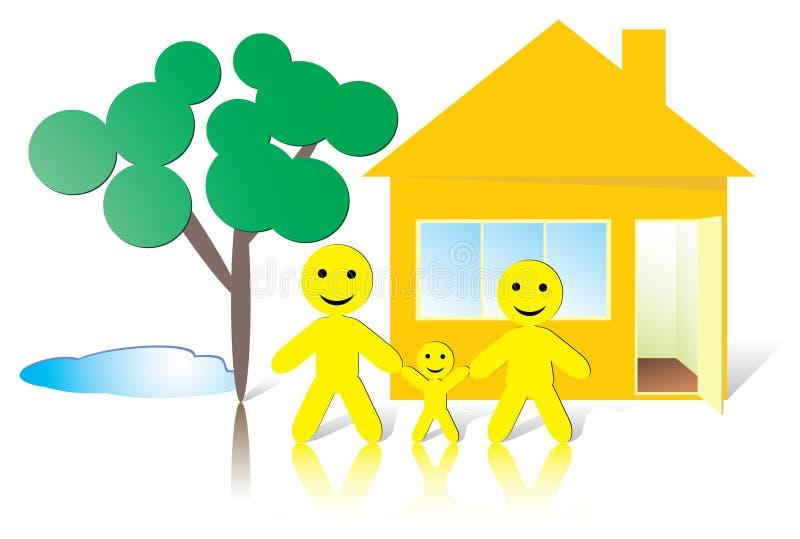 родной дом smileman иллюстрация штока