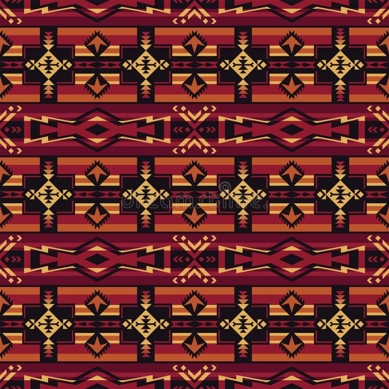 Родной юго-запад американский, индийский, ацтекский, картина навахо безшовная Геометрический дизайн иллюстрация штока