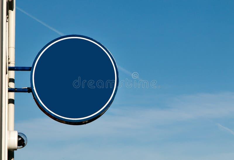 Родовой голубой круглый знак стоковые изображения rf
