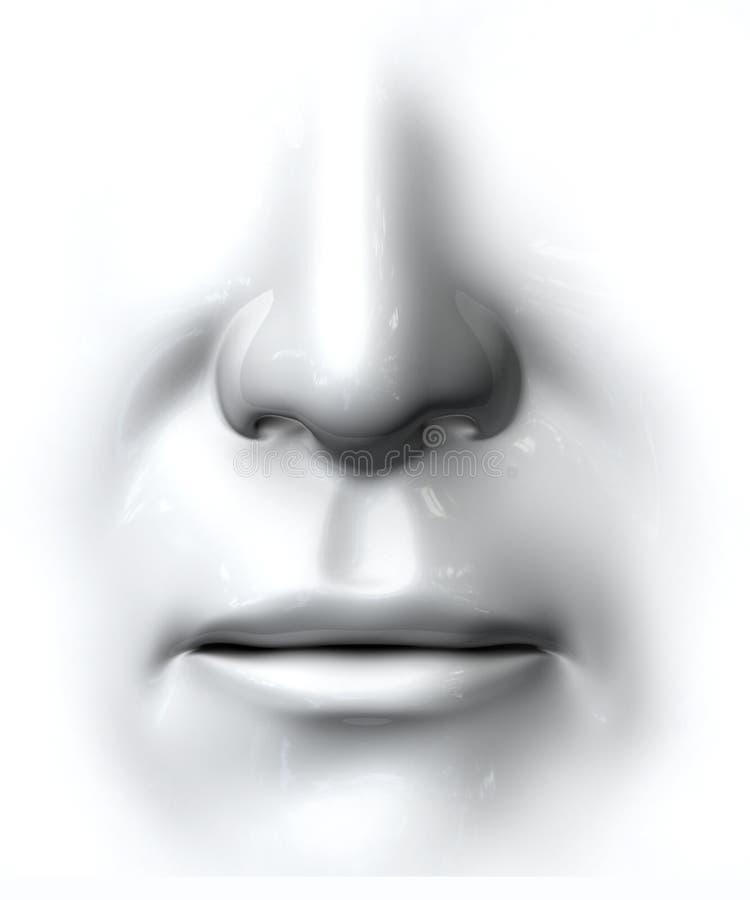 родовой нос рта иллюстрация штока