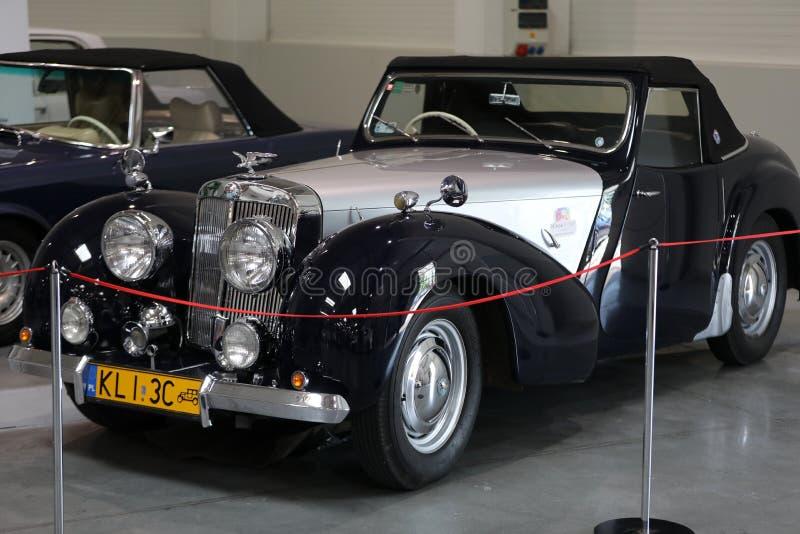 Родстер 2000 триумфа на шоу Moto в Краков Произведенный в y 1949 стоковое фото rf