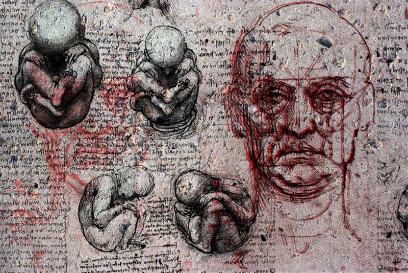 Рождение и смерть иллюстрация вектора