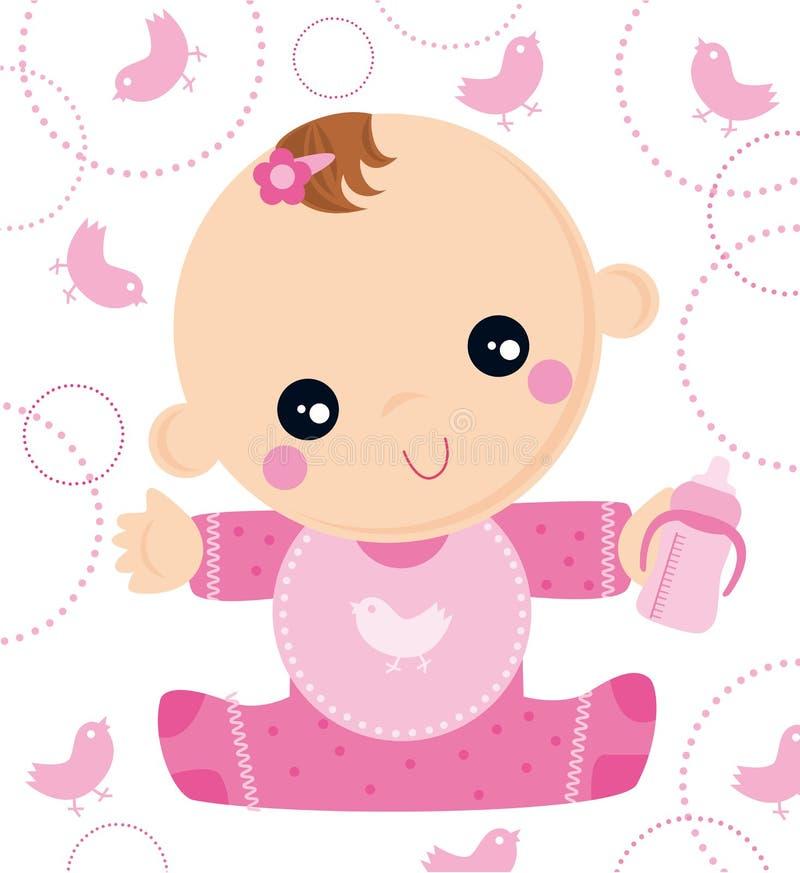 рожденный младенец иллюстрация вектора