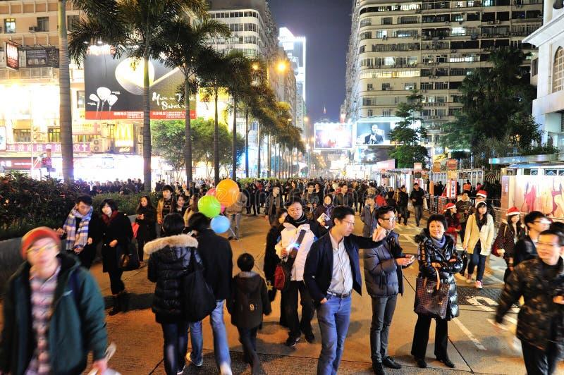 Рожденственская ночь в Гонконге стоковые изображения rf
