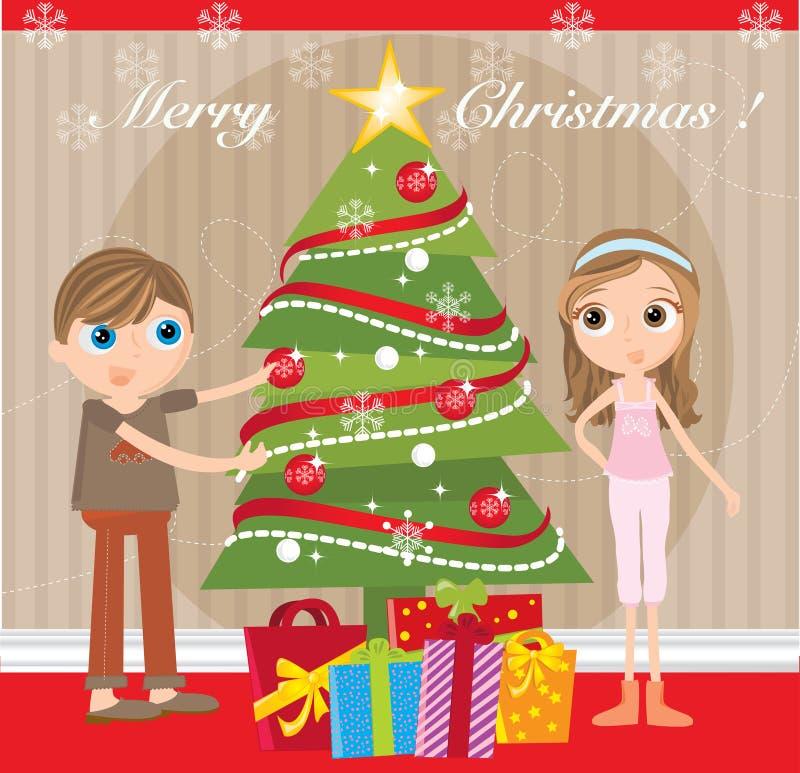 Рожденственская ночь бесплатная иллюстрация