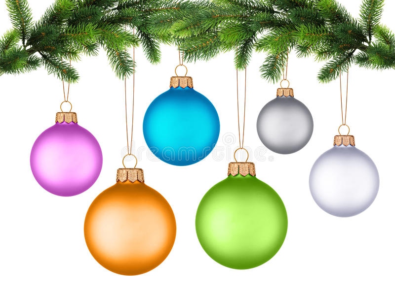 рождественская елка ветви шарика стоковые изображения