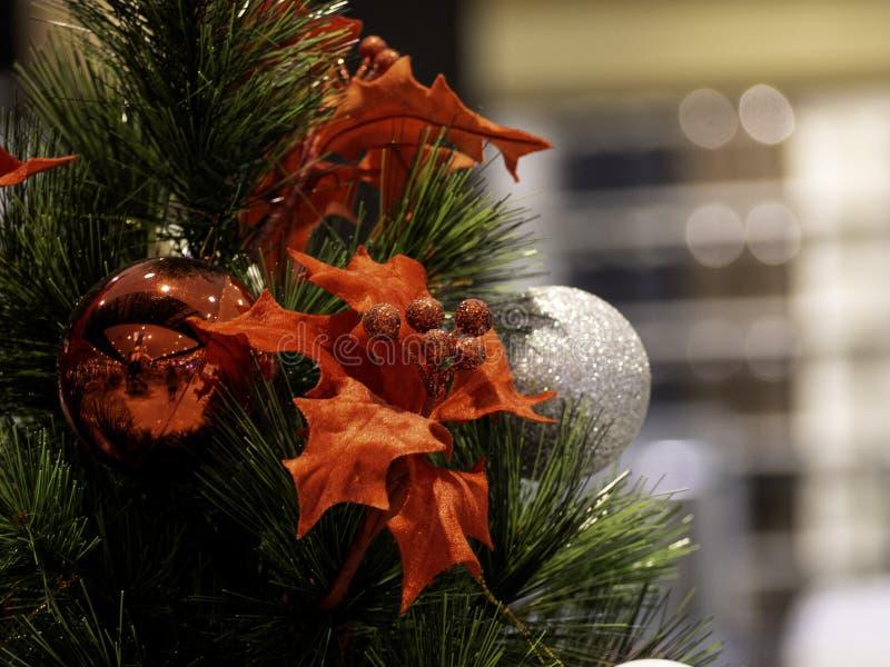 Рождественская елка в интерьере стоковые фотографии rf