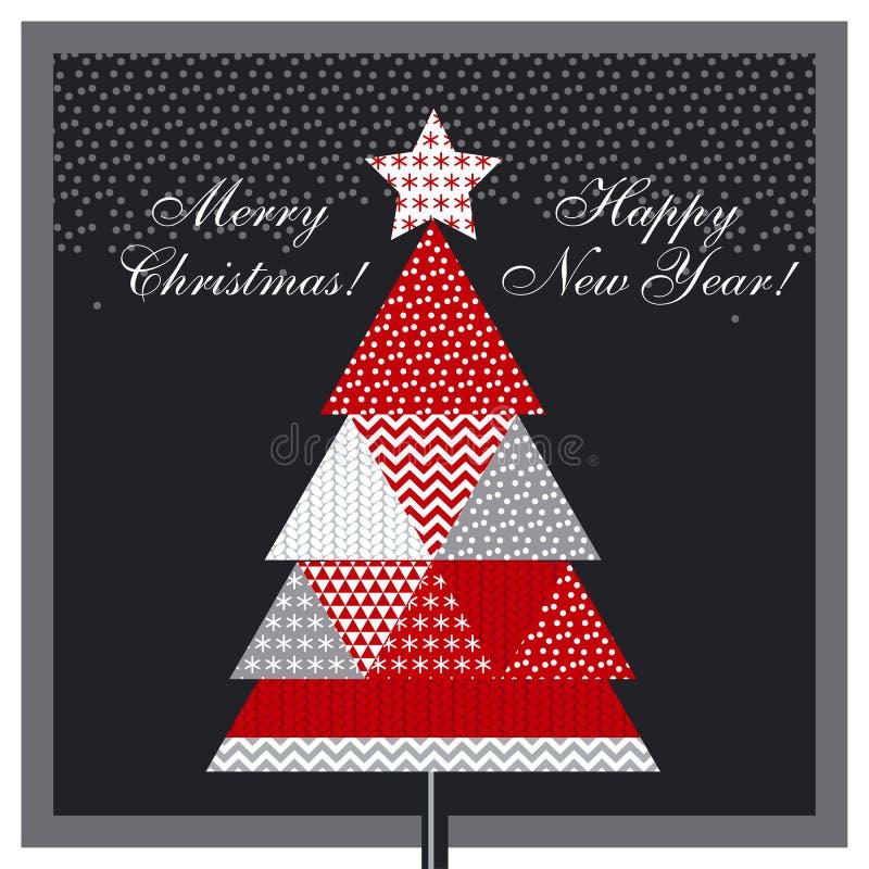Рождественская елка в типе заплатки иллюстрация штока