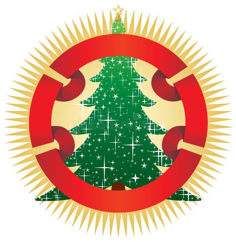 рождественская елка знамени иллюстрация штока