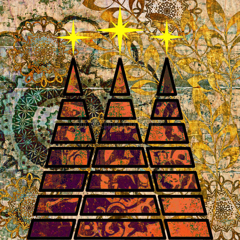 рождественская елка искусства бесплатная иллюстрация