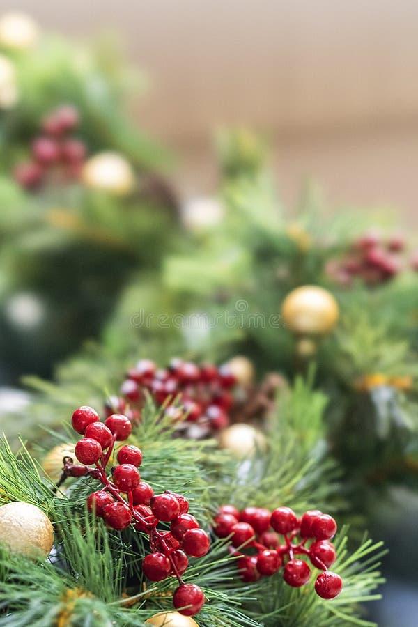 Рождественская елка и свои орнаменты хорошо украсили размещенный в Бандунге, Индонезии стоковая фотография rf