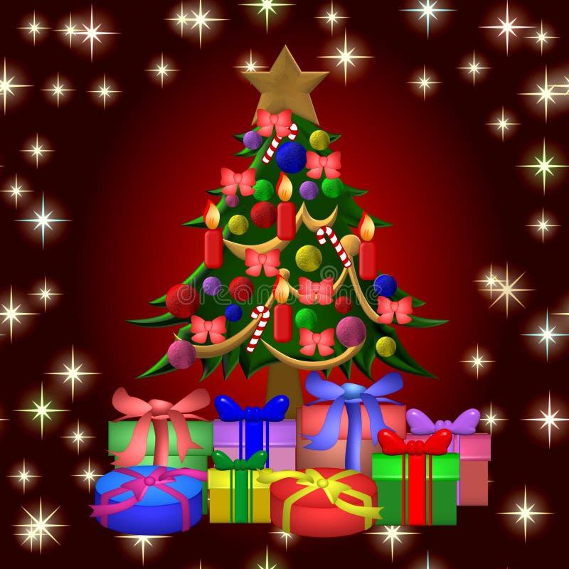Download рождественская елка предпосылки Иллюстрация штока - иллюстрации насчитывающей игрушка, цвет: 6860894