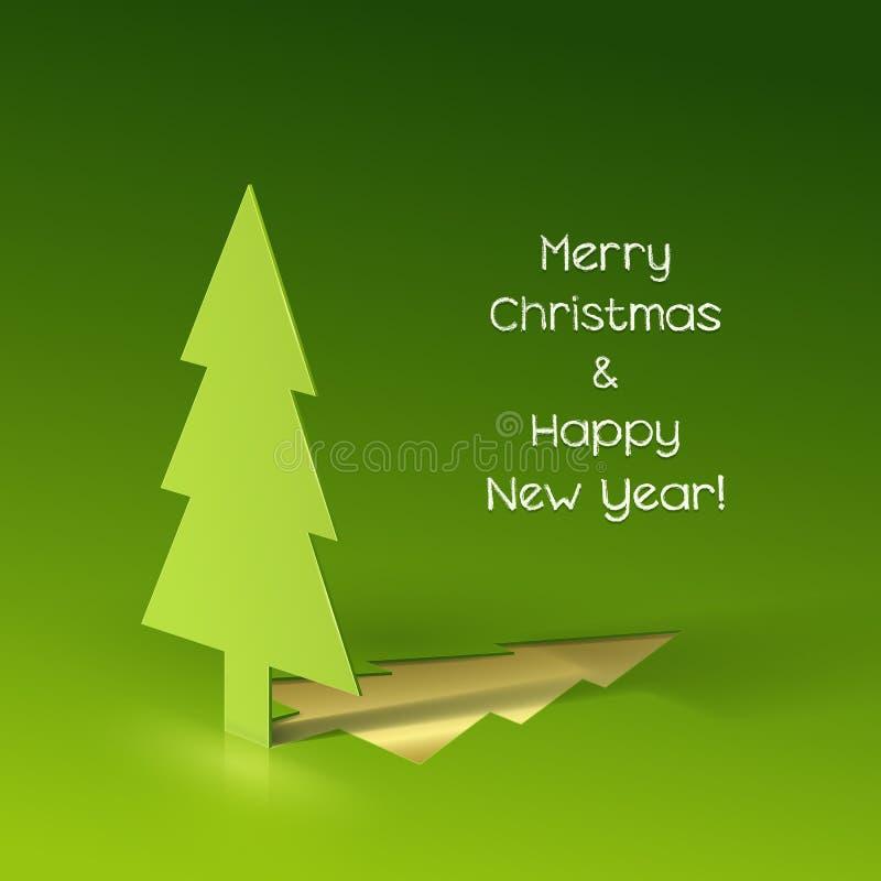 Рождественская елка сделанная из бумаги бесплатная иллюстрация