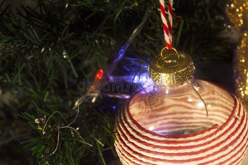 Рождественская елка с заревом стоковое фото rf