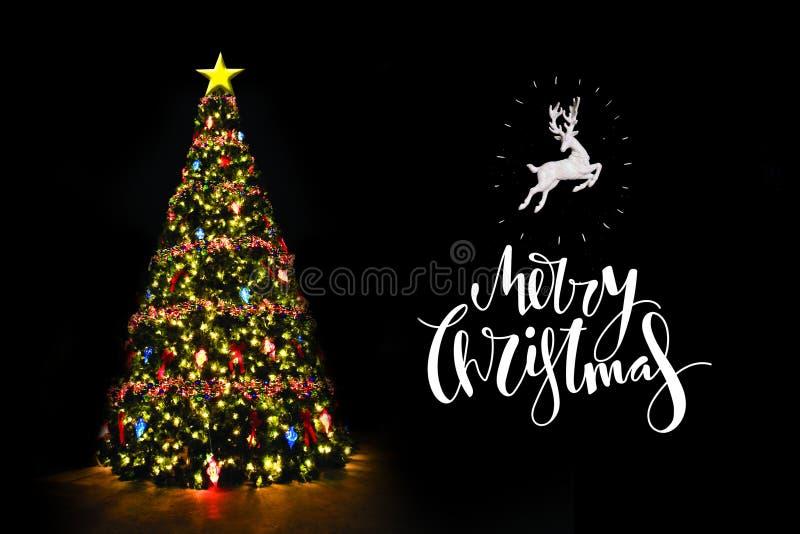 Рождественская елка с написанными желаниями иллюстрация штока