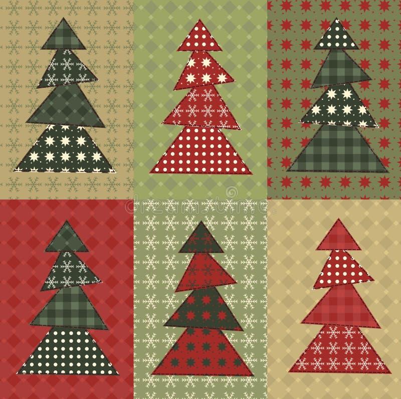 Рождественская елка установила 8 бесплатная иллюстрация