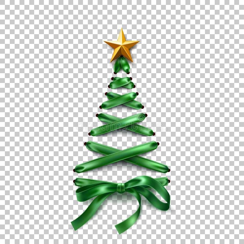 Рождественская елка шнурка-вверх вектора сделанная шнурков иллюстрация вектора