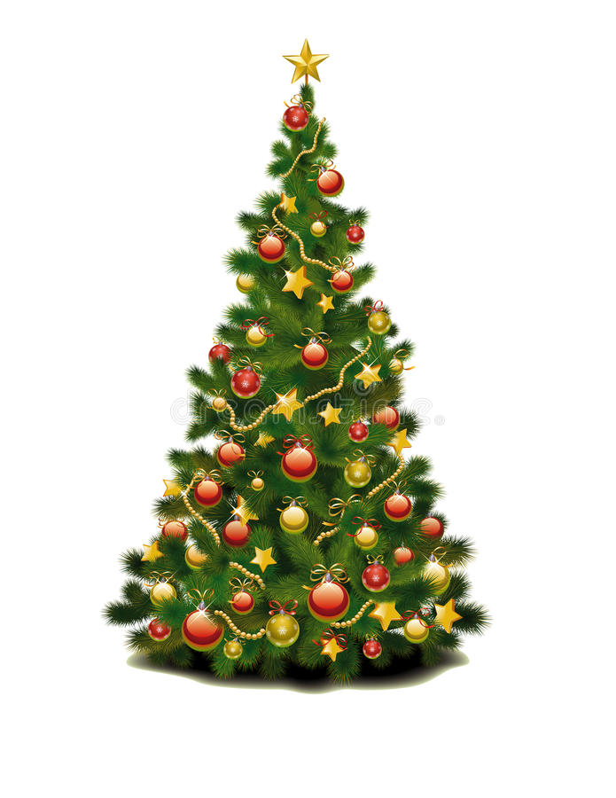 рождественская елка иллюстрация штока