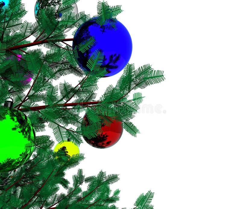Рождественская елка - 3D иллюстрация штока