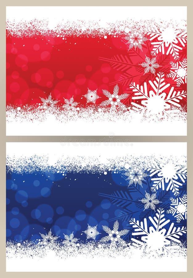 Рождественская открытка снежинки иллюстрация штока