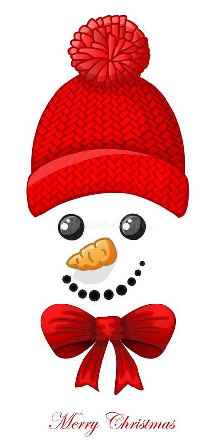 Рождественская открытка со стороной снеговика над белой предпосылкой бесплатная иллюстрация