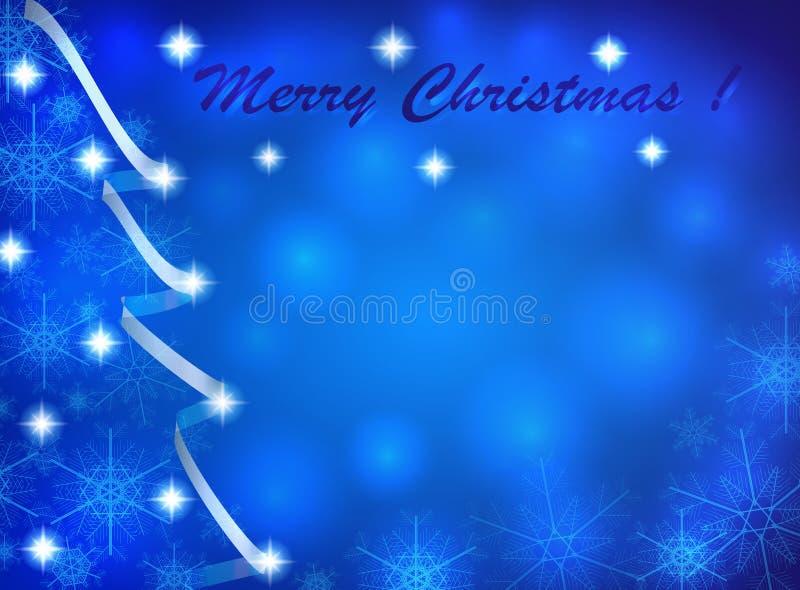 Рождественская открытка с абстрактными рождественской елкой и снежинками стоковая фотография rf