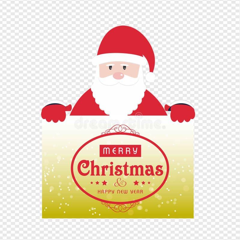 Рождественская открытка с вектором caluse santa бесплатная иллюстрация