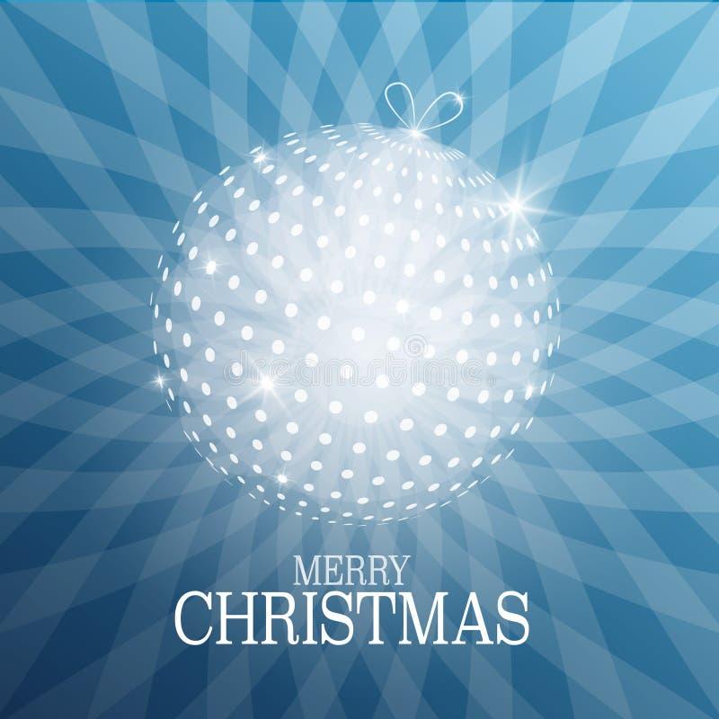 Рождественская открытка с шариком Xmas иллюстрация вектора