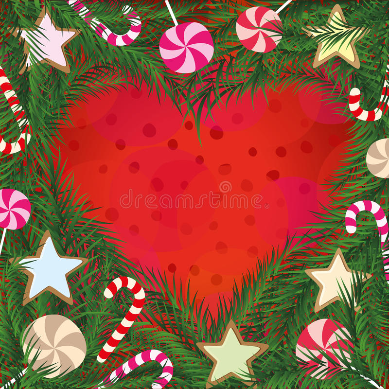 Рождественская открытка стоковое фото rf