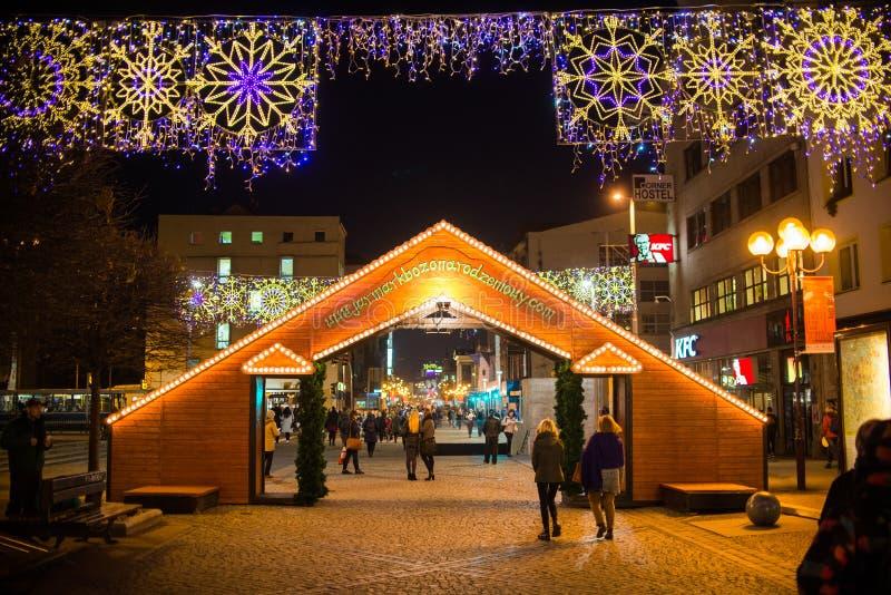Рождественская ярмарка в Wroclaw Польша, стоковая фотография rf