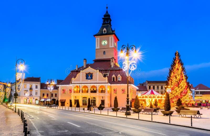 Рождественская ярмарка, Brasov, Трансильвания, Румыния стоковые фотографии rf