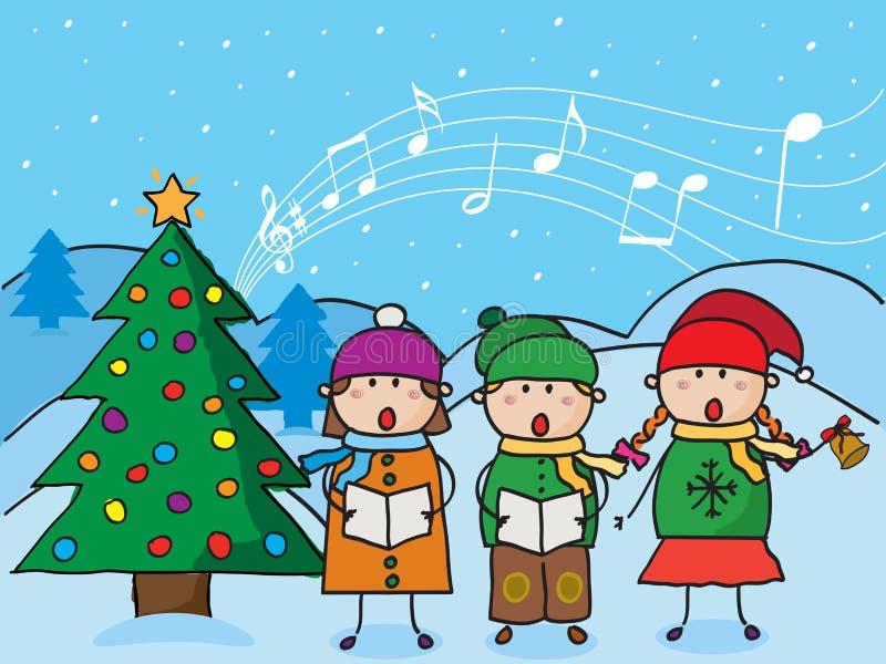 Рождественские гимны рождества иллюстрация штока